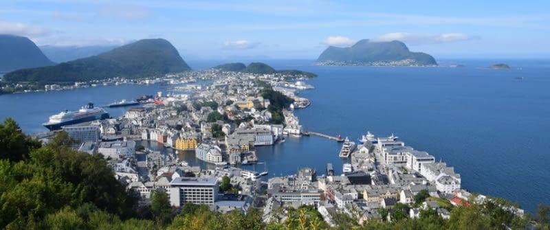 Ålesund norwegen stadt panorma
